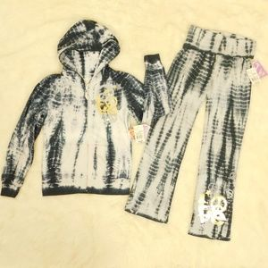 Fleece Hoodie Jacket Pants Set Outfit M 10/12 NWT
